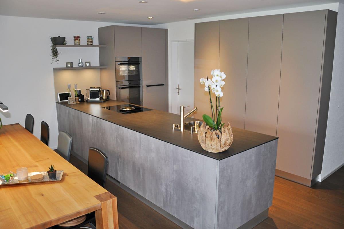 küche mit betonoptik - danuser herisau